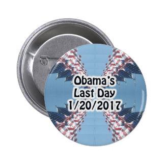 Botón pasado del día 1/20/2017 de Obama Pin Redondo De 2 Pulgadas