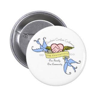 Botón - pastel del diseño del aniversario del SCC Pin