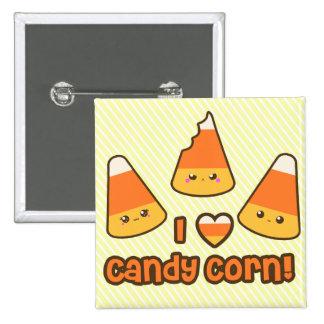 Botón - pastillas de caramelo del corazón de I Pin Cuadrado