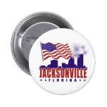 Botón patriótico de Jacksonville la Florida Pin