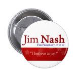 Botón patriótico de Jim Nash 2016 Pin Redondo De 2 Pulgadas