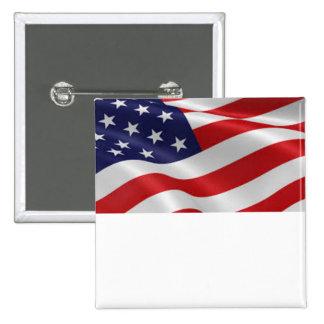 Botón patriótico de la bandera que usted puede pin cuadrado