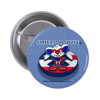 Botón patriótico de la paz del RATÓN del ESCUDO Pin Redondo De 2 Pulgadas