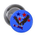 Botón patriótico de los E.E.U.U. de las estrellas  Pins
