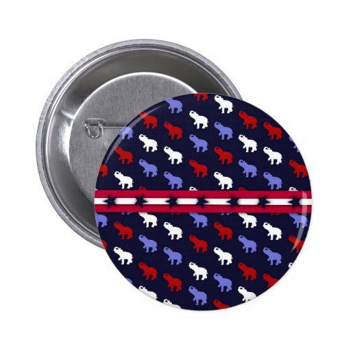 Botón patriótico de los elefantes pins