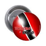 Botón patriótico de Trinidad y de Trinidad y Pin Redondo De 2 Pulgadas
