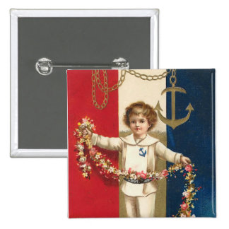 Botón patriótico del cuadrado del muchacho pin