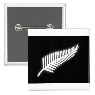 Botón patriótico del emblema nacional del helecho pin cuadrado