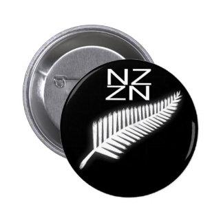 Botón patriótico del emblema nacional del helecho pin redondo de 2 pulgadas