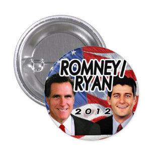 Botón patriótico del republicano de la foto de Rom Pin Redondo De 1 Pulgada