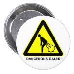 Botón peligroso de la señal de peligro de los gase pins