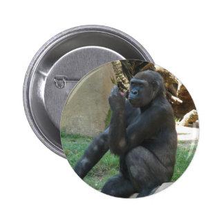 Botón pensativo del gorila