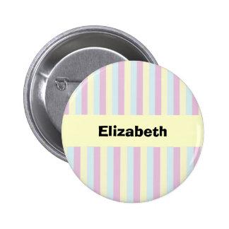 Botón personalizado caramelo del arco iris pin redondo de 2 pulgadas
