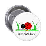 Botón personalizado de la mariquita pins