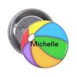 Botón personalizado de la pelota de playa pin