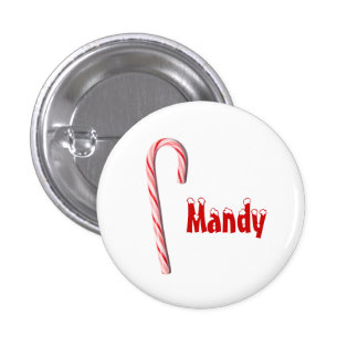 Botón personalizado del bastón de caramelo pins