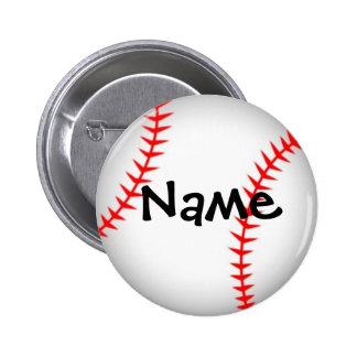Botón personalizado del béisbol pin redondo de 2 pulgadas