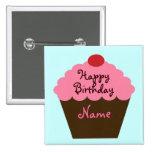 Botón personalizado del cumpleaños de la magdalena pins