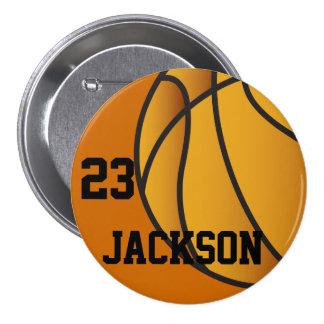 Botón personalizado del diseño del baloncesto