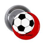 Botón personalizado del fútbol pin