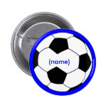 Botón personalizado del fútbol pins