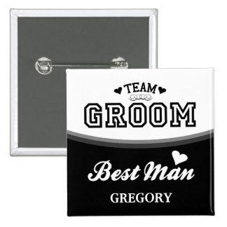 Botón personalizado del hombre del novio del equip pins