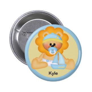 Botón personalizado del león del bebé