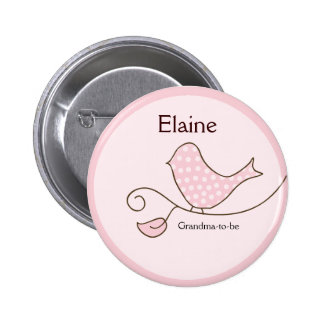 Botón personalizado ETIQUETA de moda del NOMBRE Pin Redondo De 2 Pulgadas