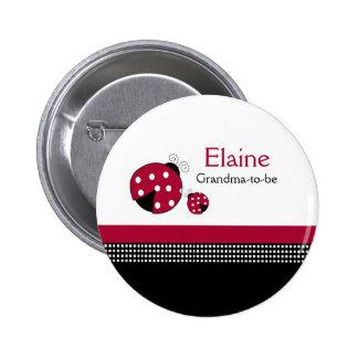 Botón personalizado ETIQUETA del NOMBRE de la Pin Redondo De 2 Pulgadas