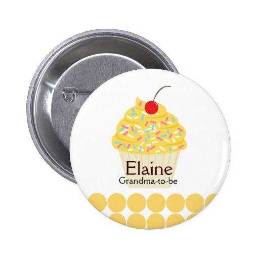 Botón personalizado ETIQUETA deliciosa del NOMBRE  Pins
