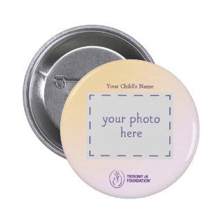 Botón personalizado fundación del Trisomy 18 Pin Redondo De 2 Pulgadas