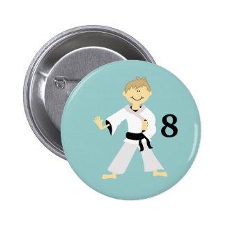 Botón personalizado MUCHACHO del cumpleaños del KA Pin Redondo De 2 Pulgadas