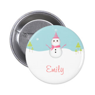 Botón personalizado muñeco de nieve