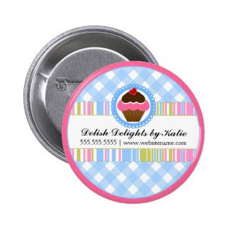 Botón personalizado panadería de la magdalena pin redondo de 2 pulgadas