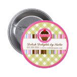 Botón personalizado panadería de la magdalena pins