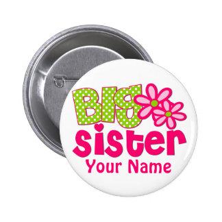 Botón personalizado rosa de la verde lima de la he