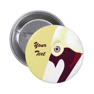 Botón perspicaz del pelícano pin
