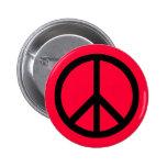Botón (pesado) del símbolo de paz pins