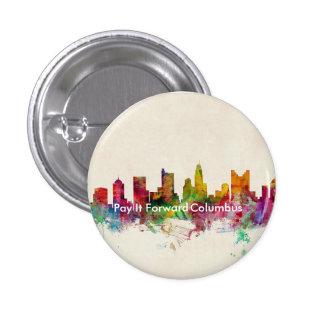 Botón PIF de Columbus Pin Redondo De 1 Pulgada