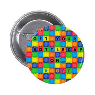 Botón/Pin con el diseño de Bottlecap de la diversi Pin Redondo De 2 Pulgadas
