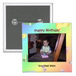 Botón/Pin de la foto del cumpleaños