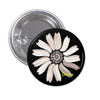 Botón/Pin de la margarita blanca