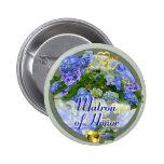 Botón/Pin del boda del ~ de los CORAZONES y de los