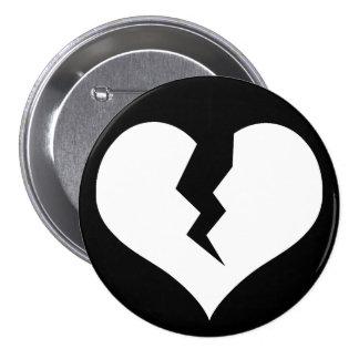 Botón/Pin del corazón quebrado Pin Redondo De 3 Pulgadas