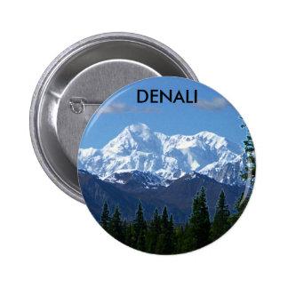 Botón/Pin del parque nacional de Denali Pin Redondo 5 Cm