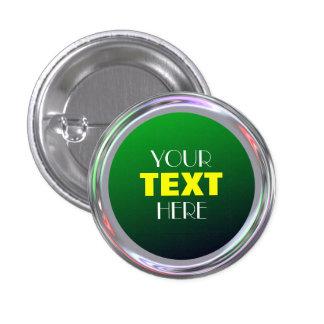 Botón plateado para el texto, logotipo, imagen pins
