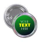 Botón plateado para el texto, logotipo, imagen pin redondo de 1 pulgada
