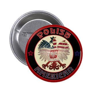 Botón polaco de American Eagle Pin Redondo De 2 Pulgadas