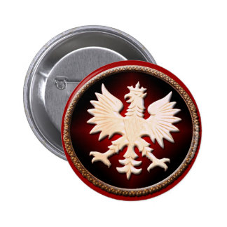 Botón polaco de Eagle Pin Redondo De 2 Pulgadas