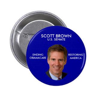 Botón político anti de Scott Brown Obama Pin